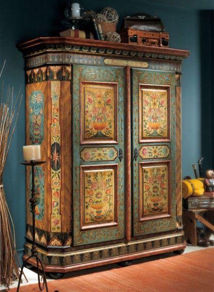 Armario de marta c al 32 deco muebles muebles - Muebles decorados a mano ...