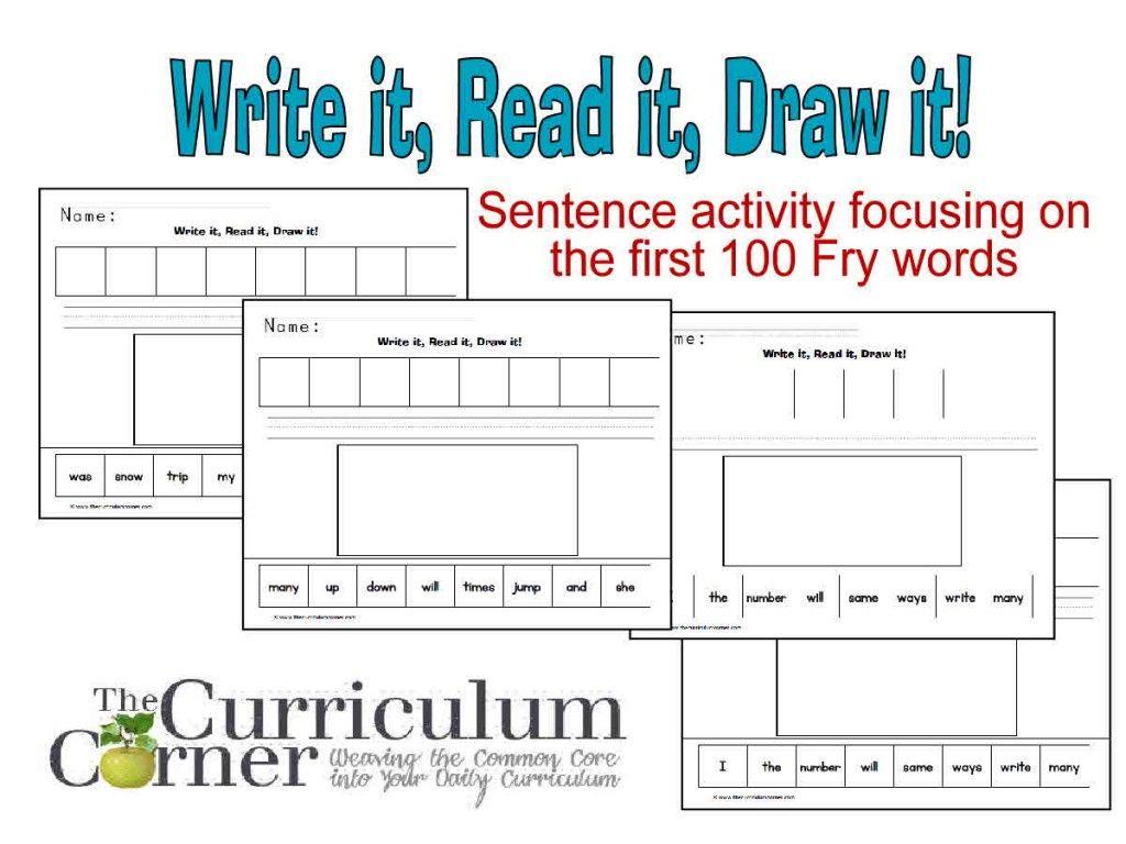 Fry Word Scrambled Sentences