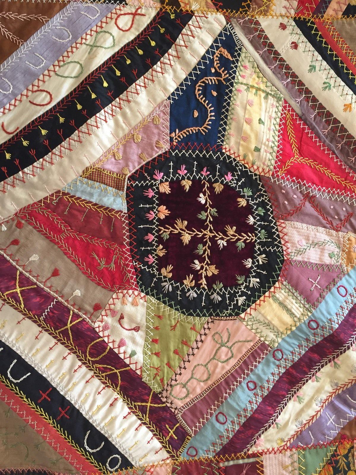 Antique Crazy Quilt Blocks