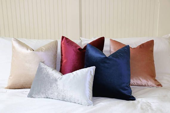 Silk Velvet Pillow Cover Collection Decorative Throw Pillow Set Stunning Coordinating Decorative Pillows