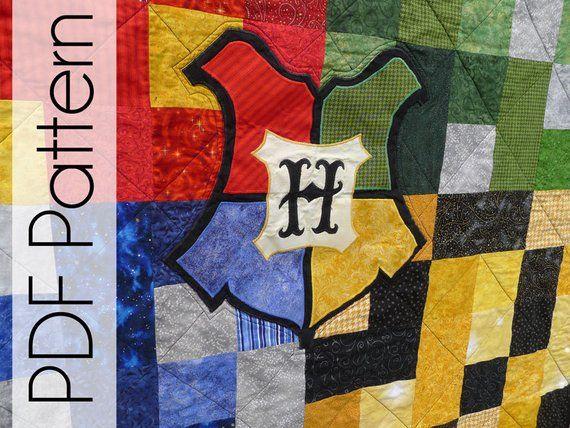 Wizard school house quilt pdf pattern quilt pattern harry