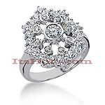 14K Gold Right Hand Diamond Ring 1.25ct