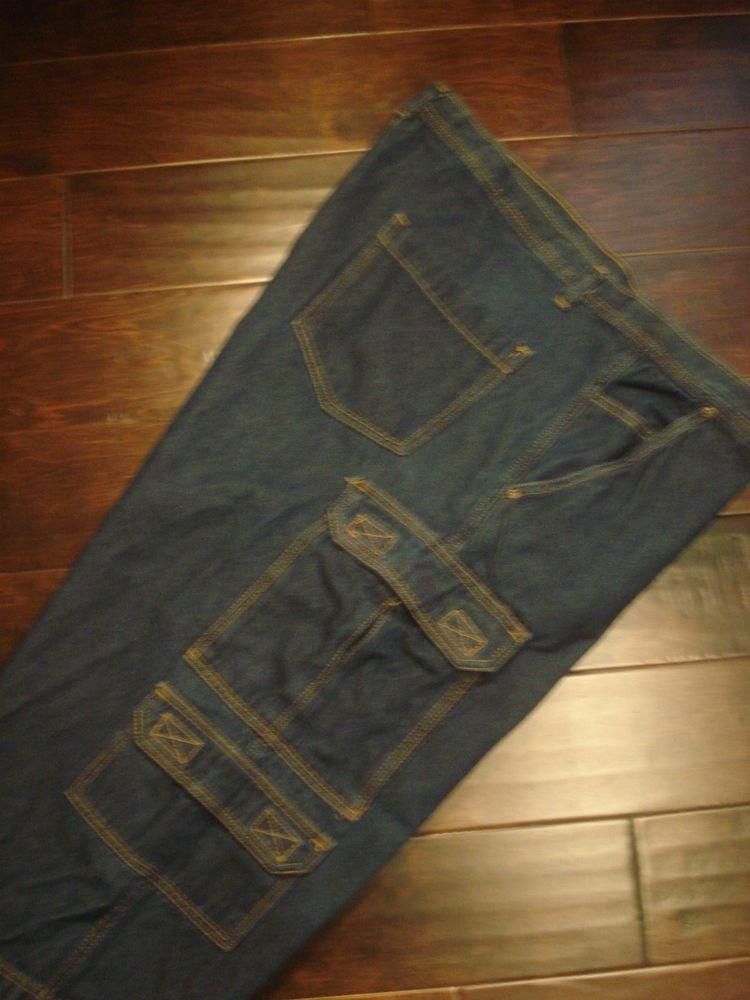 430d7b98 Liberty Blues Jeans Company Men's Cargo Blue Jean Long Shorts Size 50 Big  Tall #LibertyApparel #Cargo