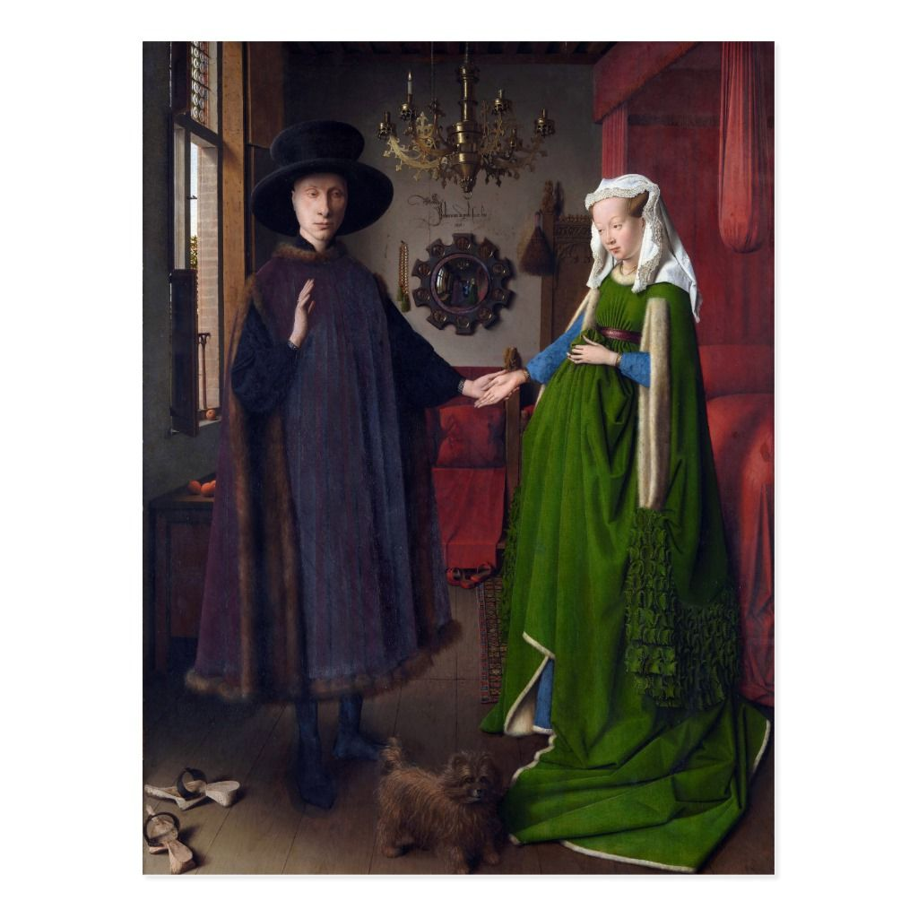 Jan Van Eyck Arnolfini Portrait 1434 Postcard Zazzle Com