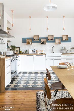 Cuisine carreaux ciment : 12 photos de cuisines tendance | Pinterest