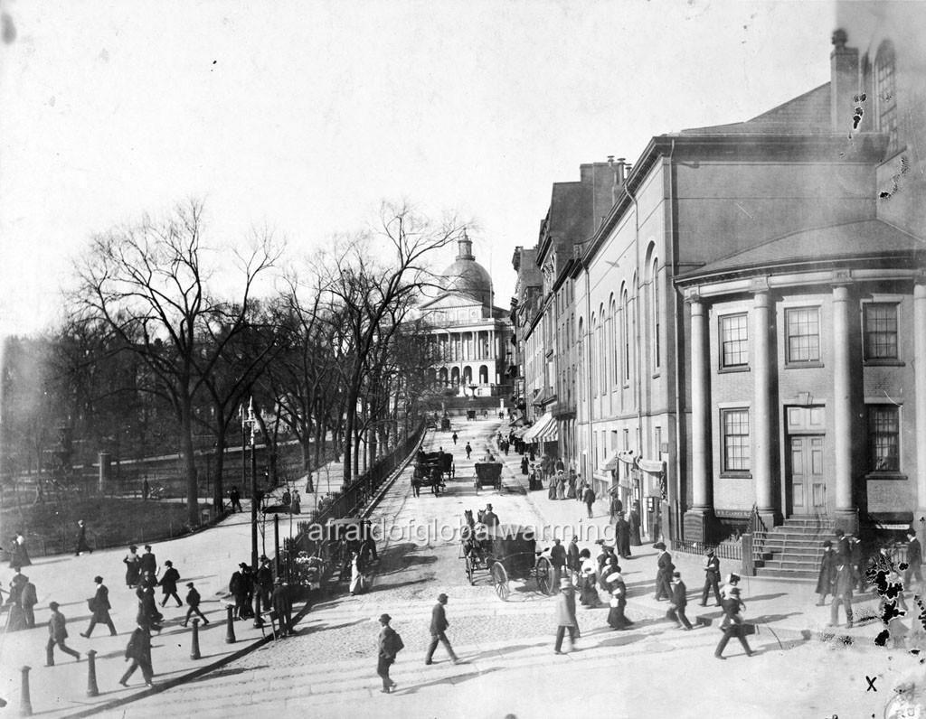 Photo 1890s Boston Ma View Park Street Ebay Street