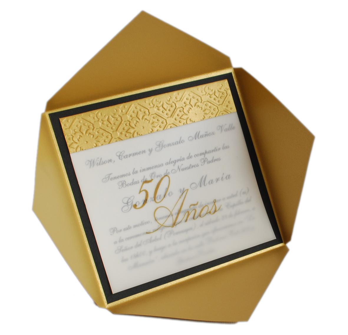 Invitación Bodas De Oro