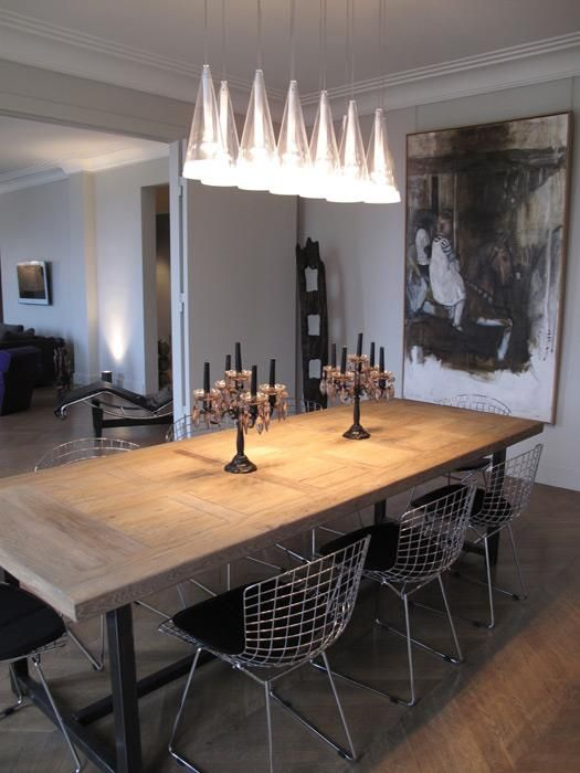 Replica Harry Bertoia Side Chair Black Luxury Dining Room Traditional Dining Rooms Dining Room Centerpiece