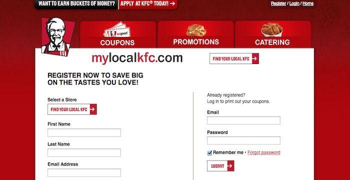 KFC Login | Login Archives | Online careers, Kfc, Login page