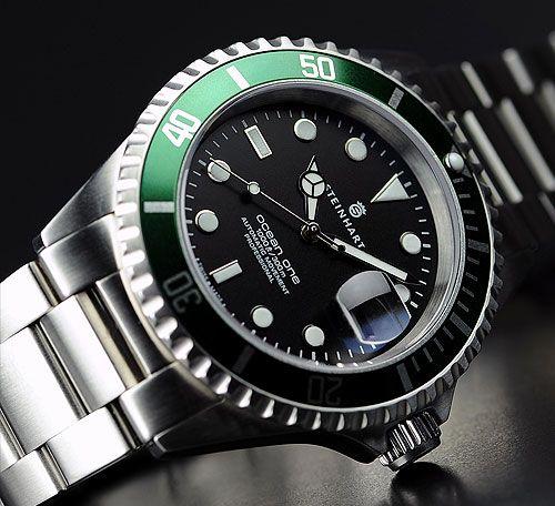 Steinhart Ocean One Green. $400 | Vintage watches, Steinhart