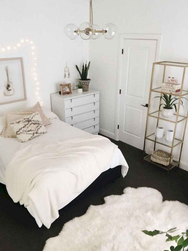 59 Best Minimalist Bedroom Ideas Decoration Bedroom Bedroomideas Bedroomdecoration Luxury Dorm Room First Apartment Decorating Home Decor Bedroom