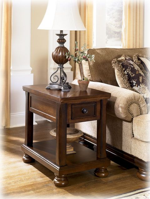 Best Ashley Furniture Porter Brown Chair Side Table Chair 400 x 300