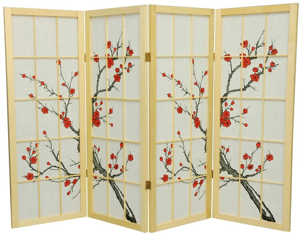 cherry blossom folding screen | sushi saturday | pinterest