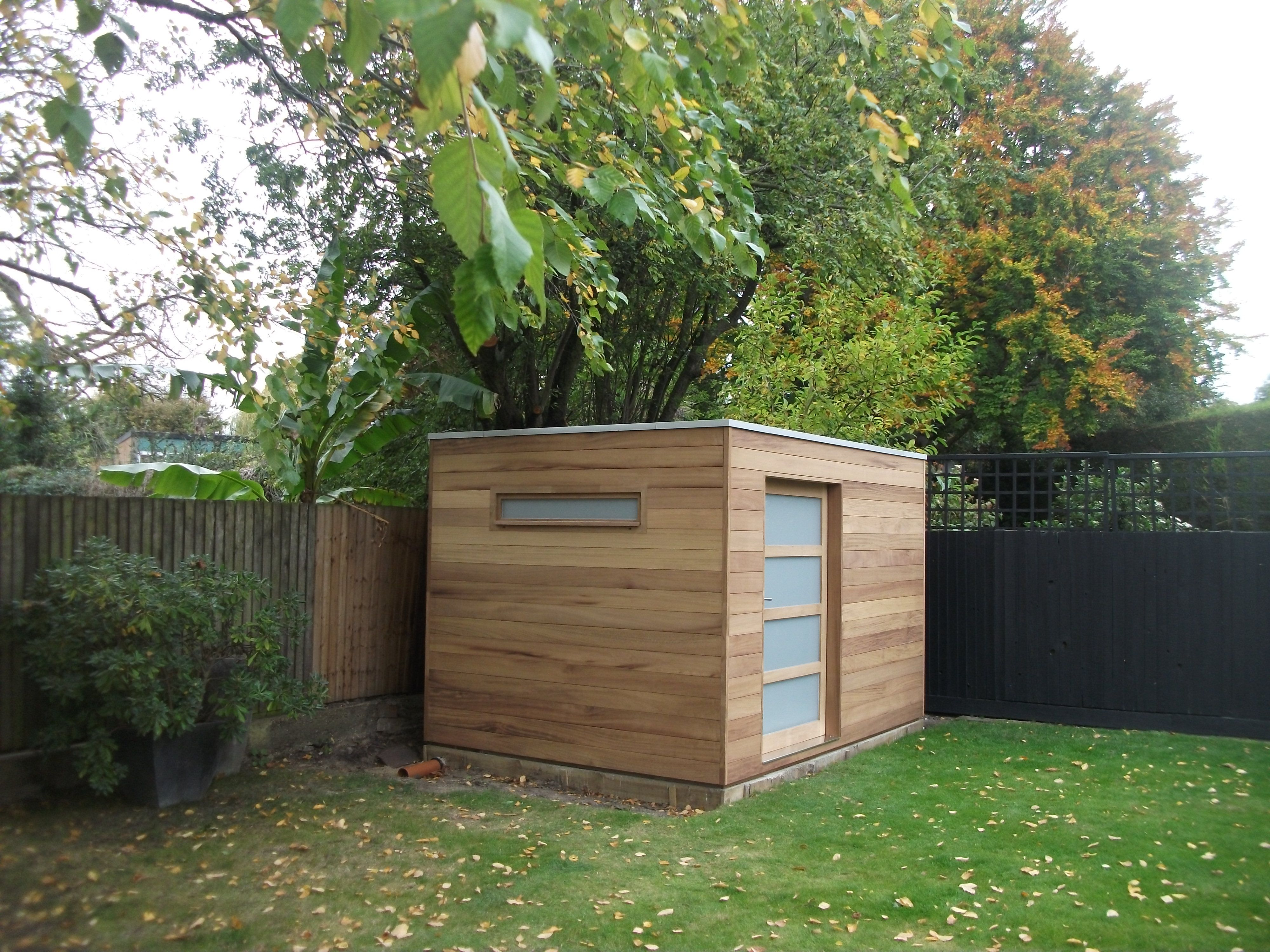 Flat Roof Garden Shed Designs