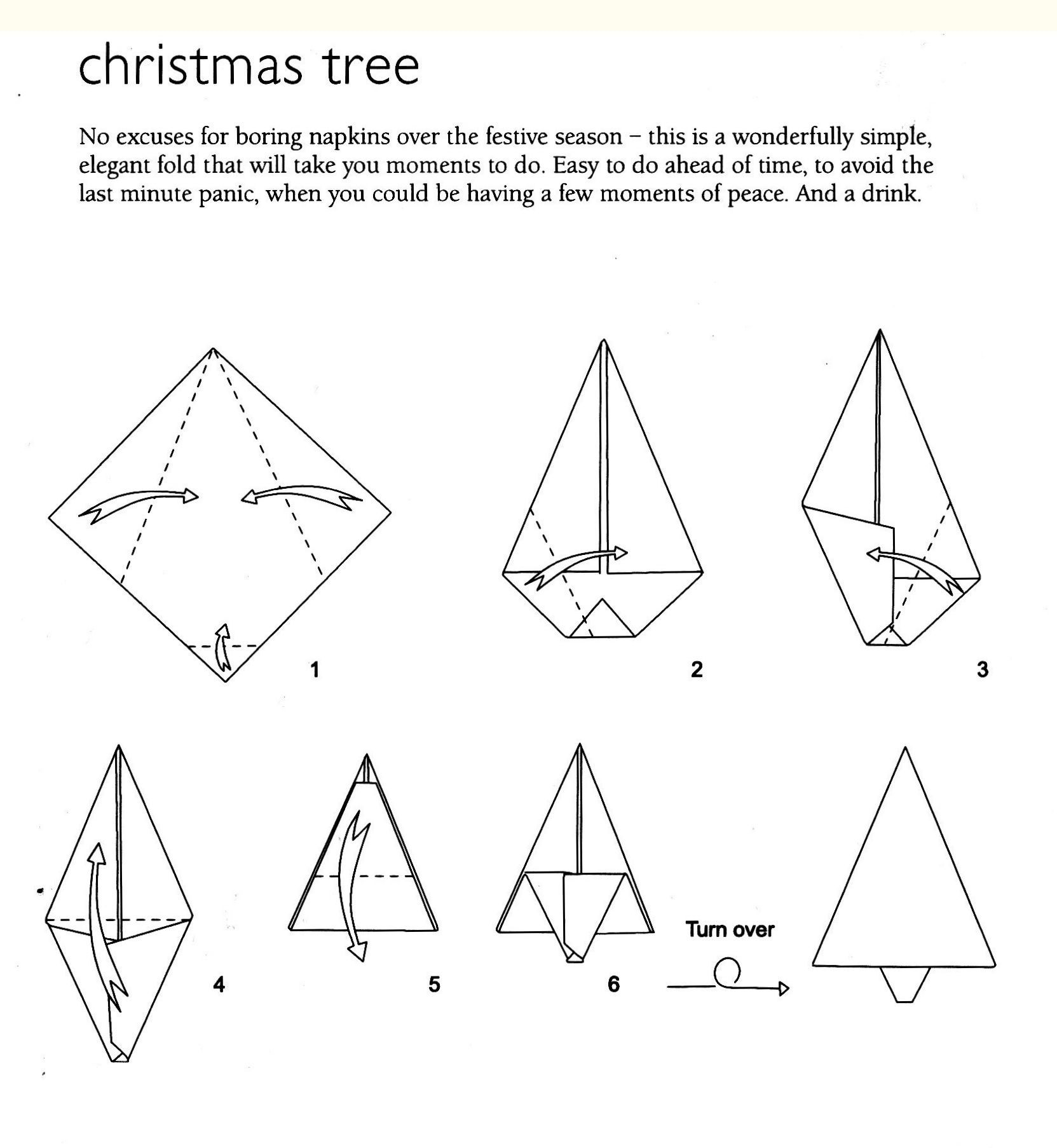 Christmas Tree napkin fold | Napkin Folding Ideas | Pinterest ...