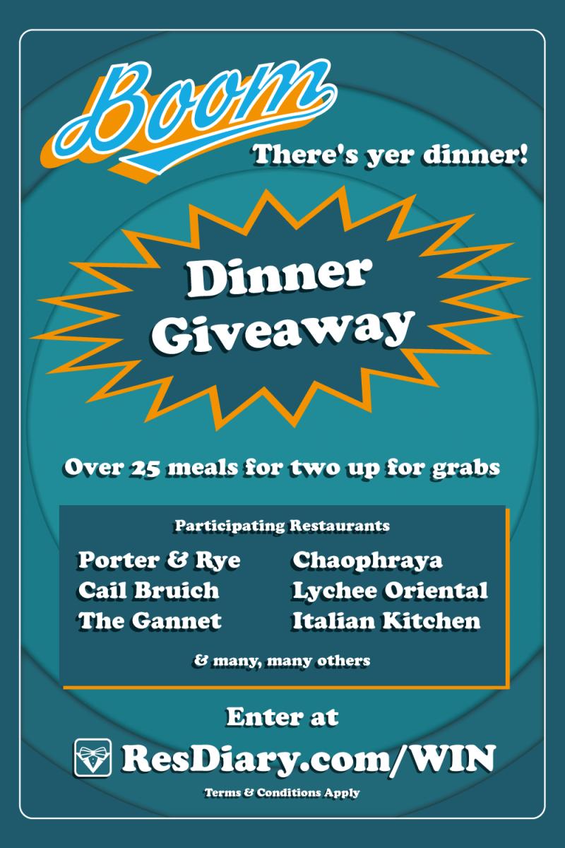 BoomTheresYerDinner with ResDiary   Edinburgh, Restaurants and Foods