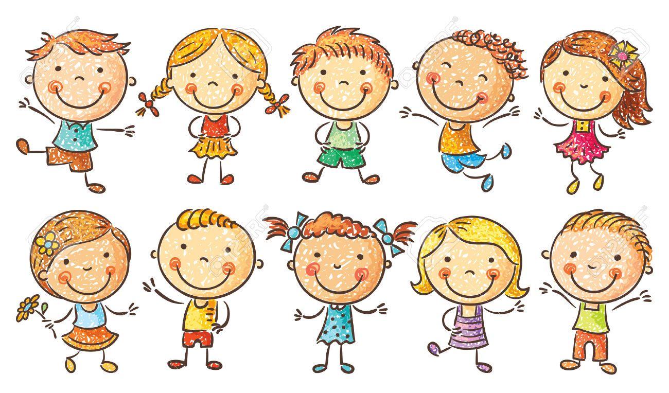 Dibujos Caras De Niños Felices Animadas: Dibujos De NIÑOS FELICES EN EL COLE