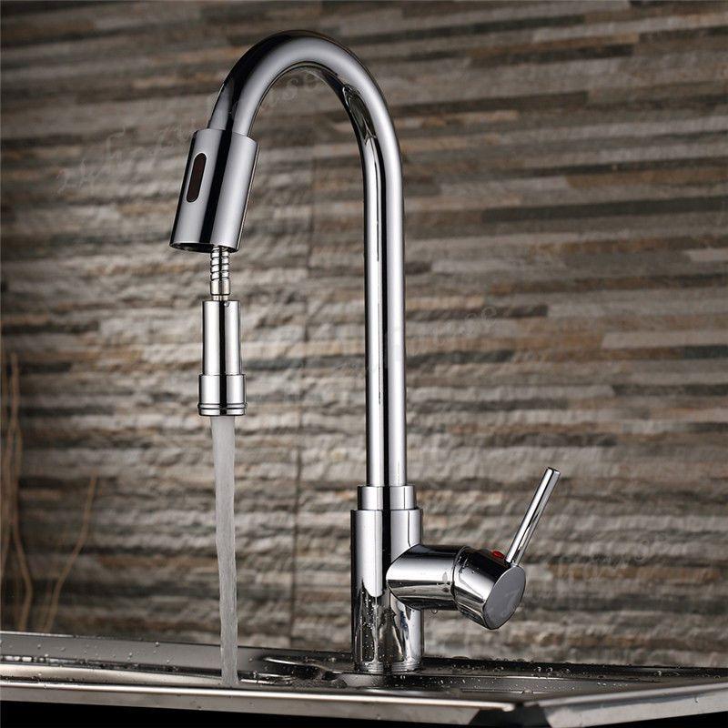 Sensor Wasserhahn Vollautomatischer Infrarot Küchearmatur Smart - wasserhahn küche mit brause