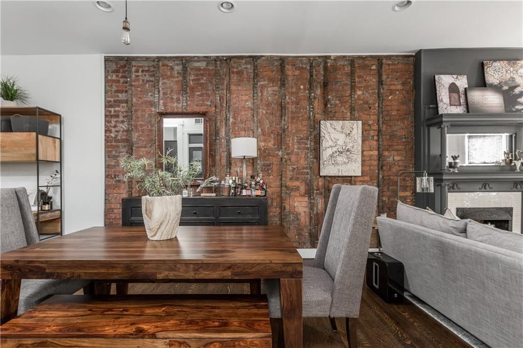 Dining Room Remodel Classy Dining Room Remodel Exposed Brick Townhouse  Rowhouse Downtown Review