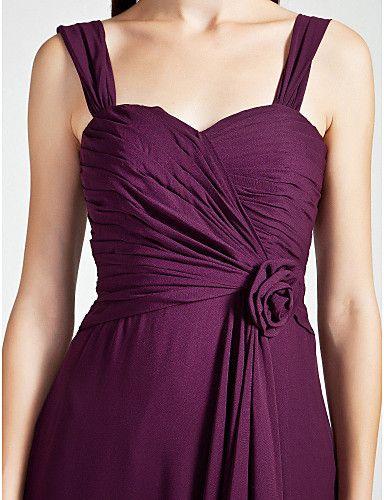 Bridesmaid Dress Floor Length Chiffon A Line Sweetheart Dress  – USD $ 69.99