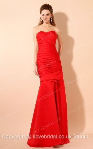 High Quality Satin Red Sweetheart