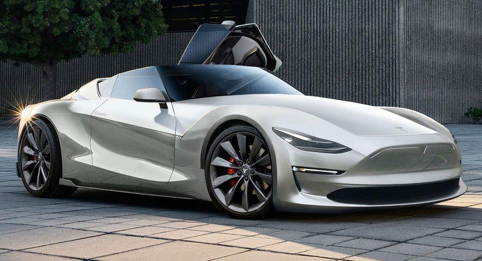 2019 Tesla Roadster Rendered On Toyota FT1 Concept