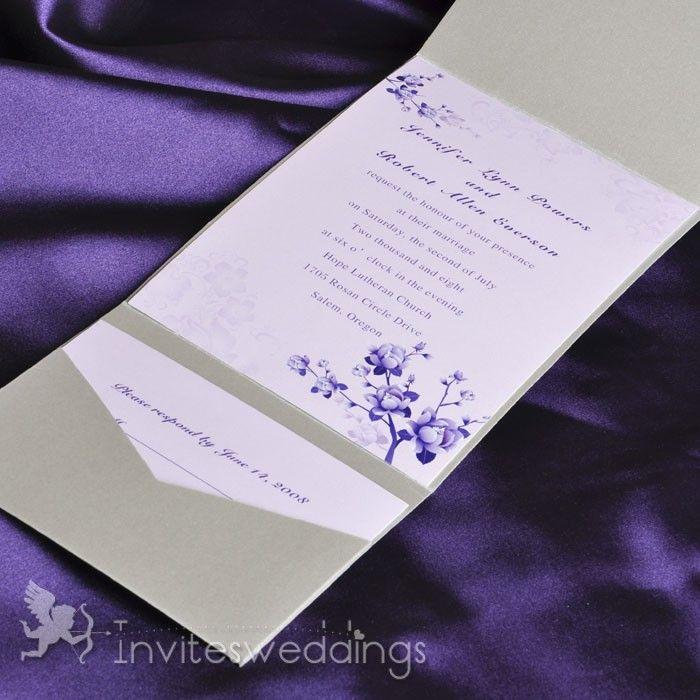 17 Best images about Pocket Wedding Invitations – Pocket Invitation Cards
