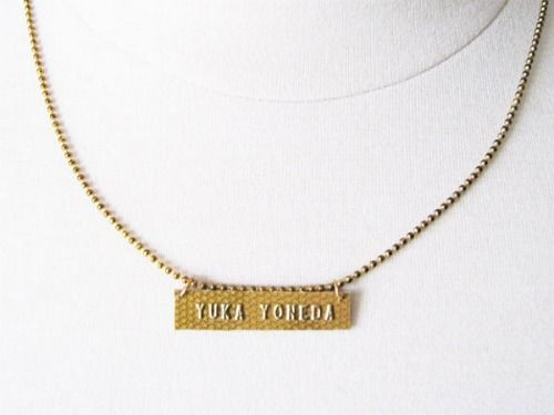Ett studios cut your credit card to make a cute name necklace do craft solutioingenieria Image collections