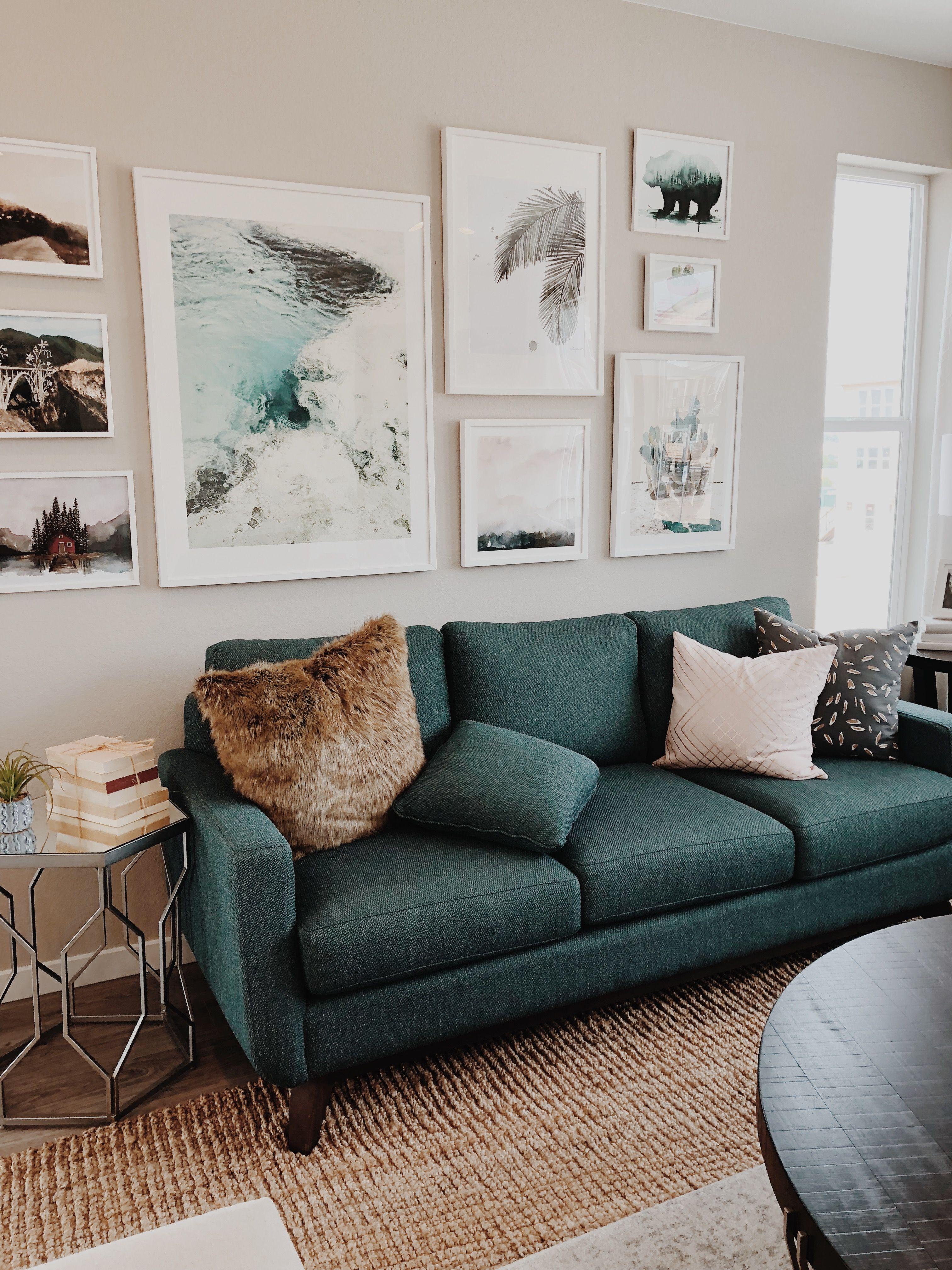 Jade Couch And Artwork Decor Home Decor Home Jade living room ideas