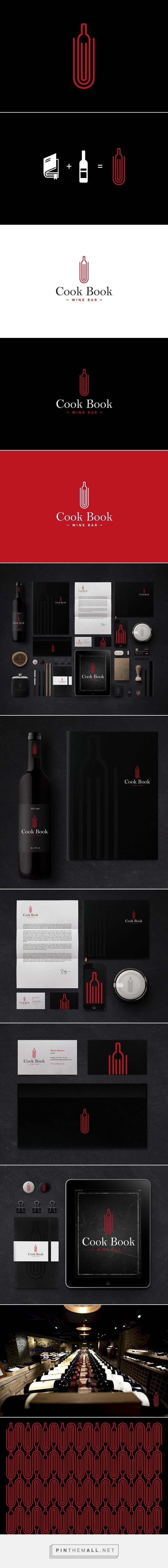 Cook Book Wine Bar On Behance By Sebastian Bednarek Curated By Packaging Diva Pd Eat Drink Graphic Design Logo Corporate Identity Design Branding Design Logo