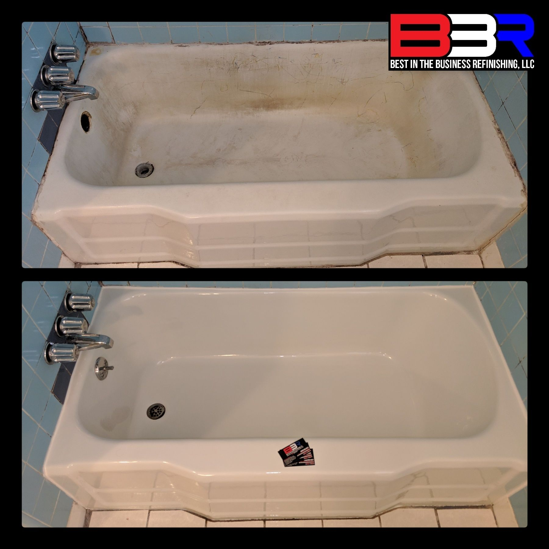 Check Out Our Latest Bathtub Refinish Done At A Rental Property In