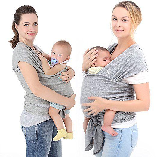Innoo Tech Baby Sling Carrier Natural Cotton Nursing Baby Wrap