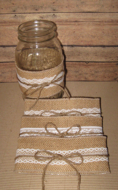 Diy fall wedding decor  rustic wedding decorations   DIY Mason Jar Sleeves Summer