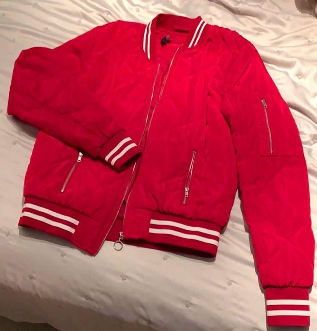 Red Bomber Jacket Red Bomber Jacket Red Bomber Jacket Outfit Bomber Jacket Outfit [ 1250 x 1200 Pixel ]