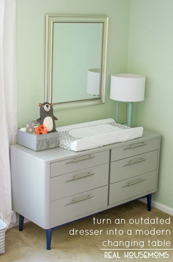 Turn An Outdated Dresser Into A Modern Changing Table Real
