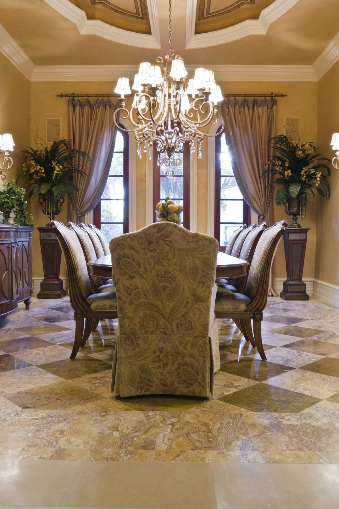 luxurious dining room amazing curtains and ceiling luxury rh pinterest com au