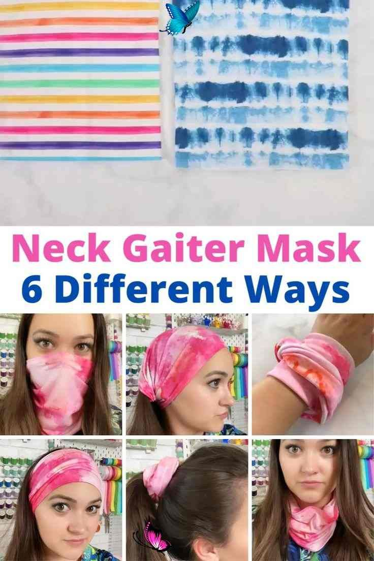 DIY Neck Gaiter Buff MultiUse Fave Mask Learn How to