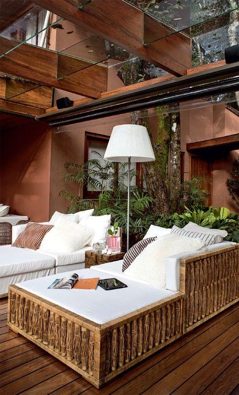 Veranda Design Exterieur Maison En Brique Mobilier De Salon