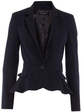 $44.00   Navy peplum jacket