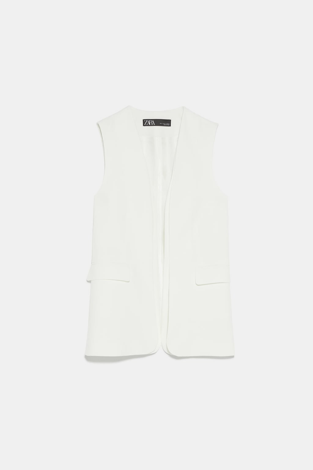 Zara woman white vest ec 6 mathematics of investment