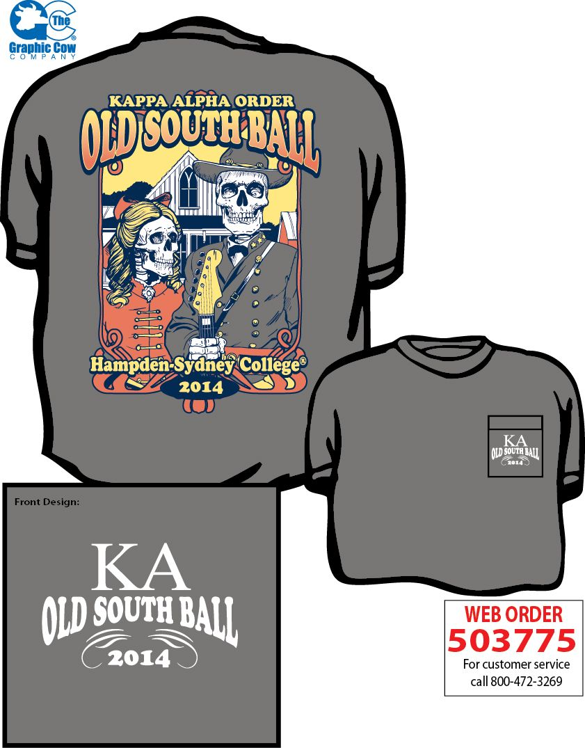 Kappa alpha order old south ball skeleton design by james for Southern fraternity rush shirts