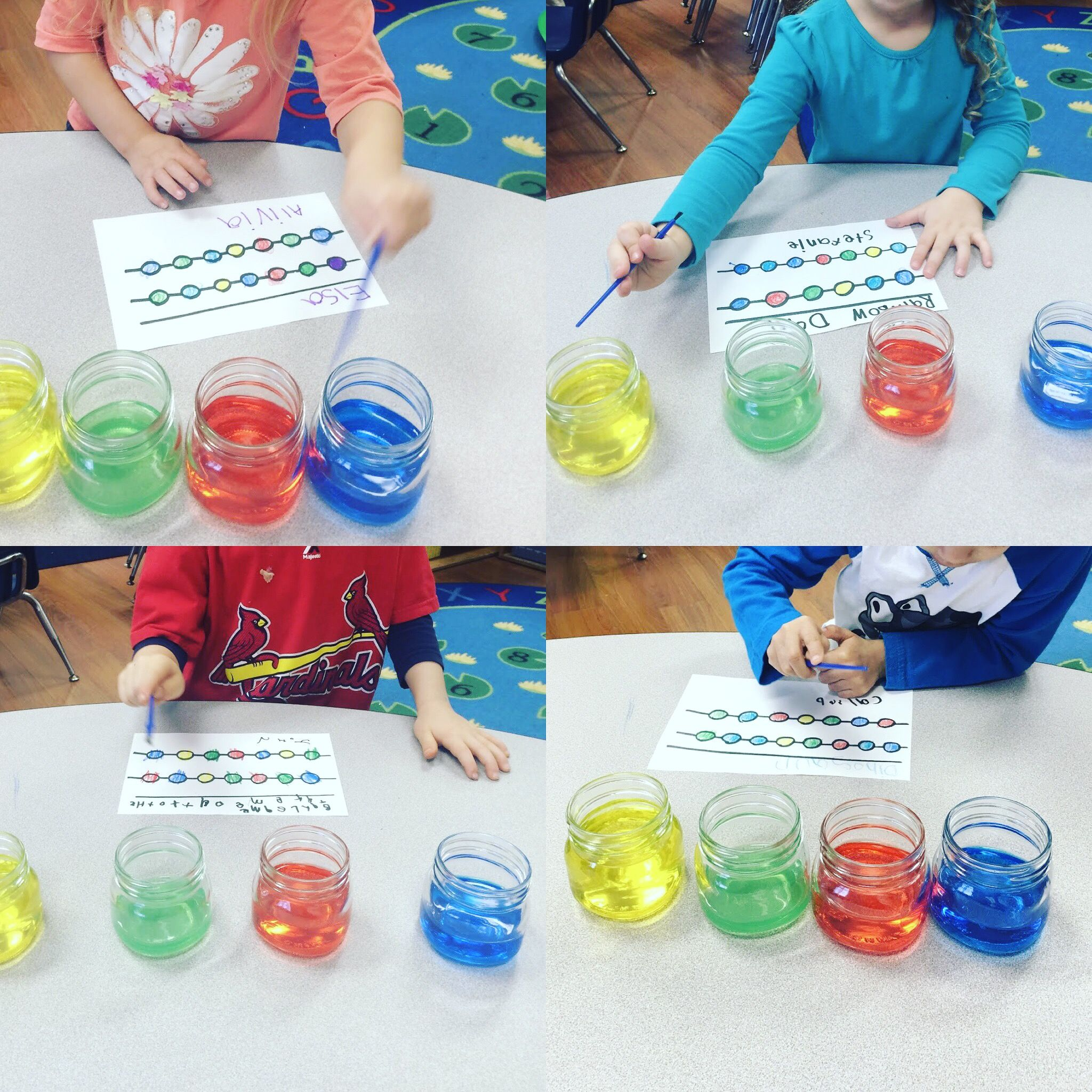 Make Your Own Color Song Preschool Science Experiment