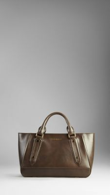 b2e45eab2d9c Small Patent London Leather Tote Bag