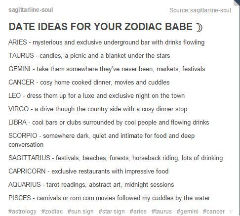 Dating each zodiac sign