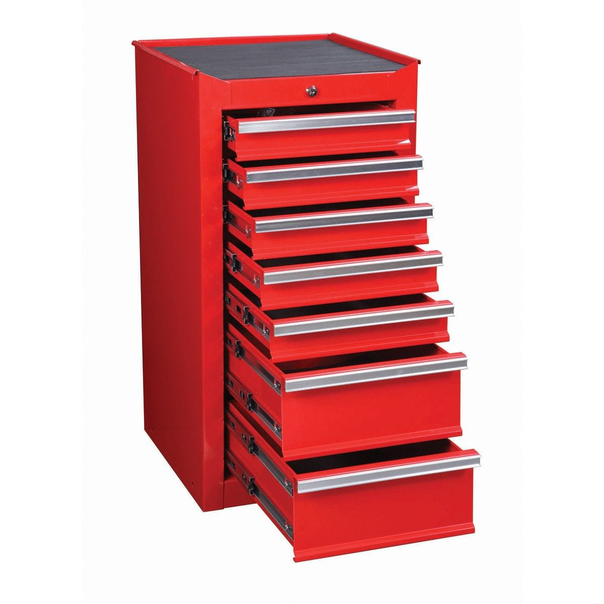 7 drawer red end cabinet for roller tool chest studio dreams tool storage cabinets tool. Black Bedroom Furniture Sets. Home Design Ideas