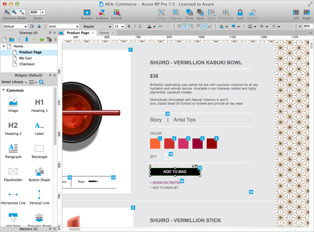 Interactive Wireframe Software Mockup Tool Axure Product Owner Prototyping Tools Management Tool