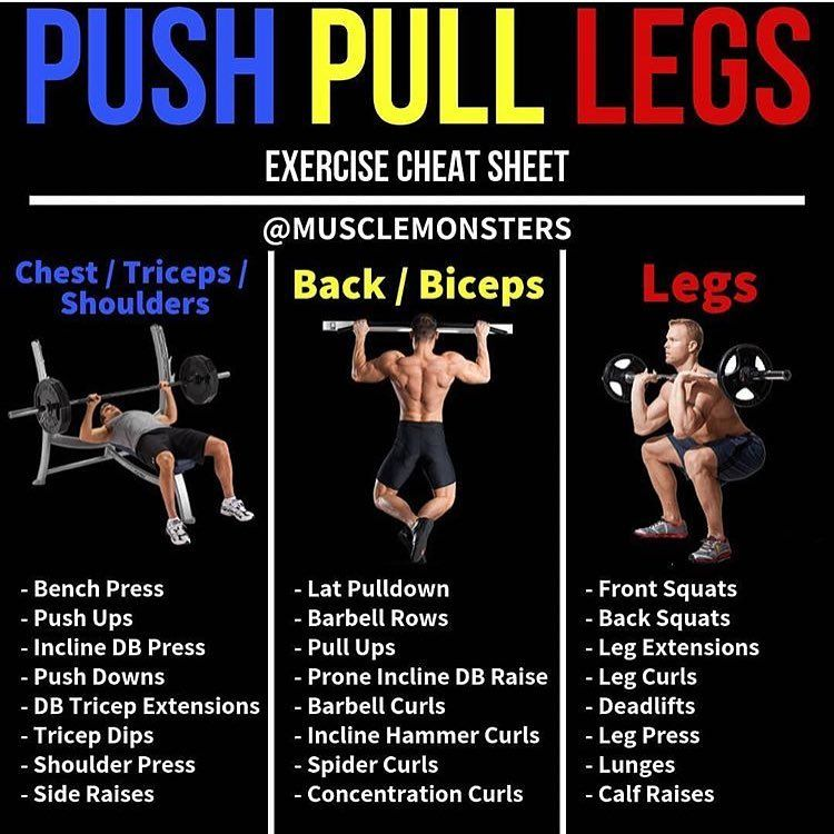 Push/Pull/Legs by @musclemonsters   Want to give a PPL split a shot