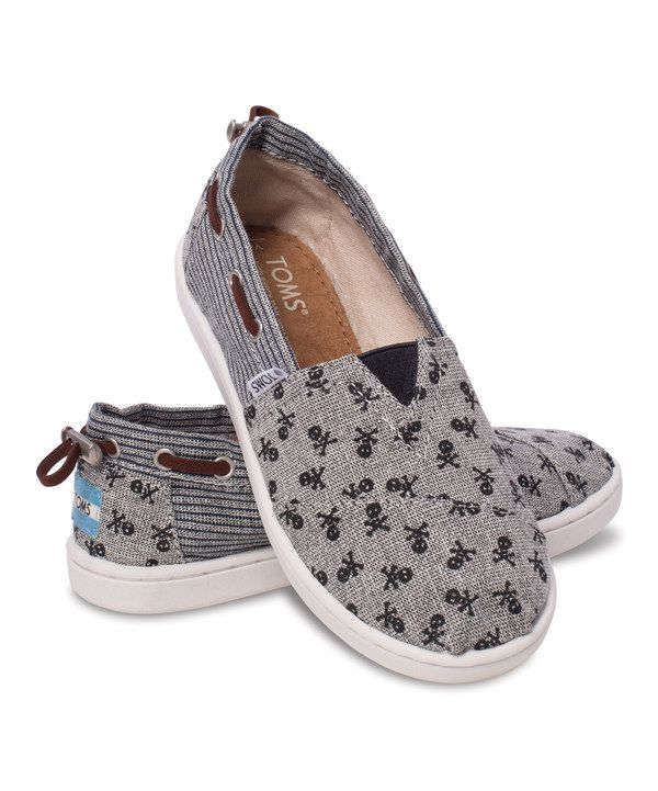 d0b4f4bb038a Look at this TOMS Gray Chambray Skull Bimini - Youth on  zulily today!