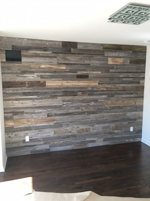 Rick Grey Wall In 2020 Pallet Accent Wall Reclaimed Wood Accent Wall Wood Accent Wall Bedroom