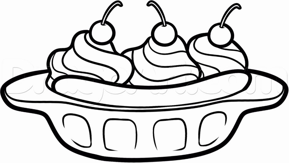 Ice Cream Sundae Coloring Page Awesome Ice Cream Sundae Cartoon Cliparts Bananas For Books Ice Cream Coloring Pages Food Coloring Pages Ice Cream